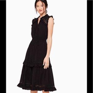 Kate Spade Swiss Dot Midi Dress